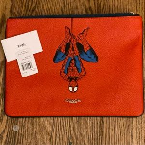 COACH Marvel large pouch/laptop case w/ Spider-Man